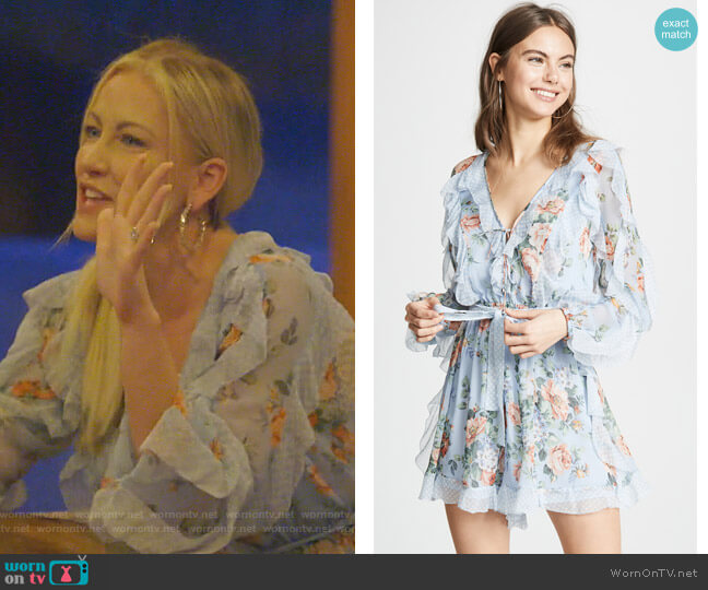 Bowie Frill Romper by Zimmermann worn by Stephanie Hollman  on The Real Housewives of Dallas