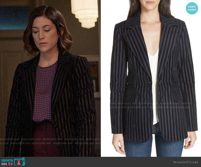 10 Crosby Derek Lam Stripe Jacquard Blazer worn by Briana Johnson (MaameYaa Boafo) on Bluff City Law