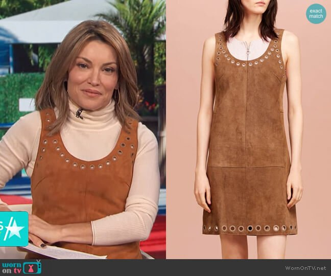 Scoop Neck Dress With Grommet Detail by 3.1 Phillip Lim  worn by Kit Hoover  on Access Hollywood