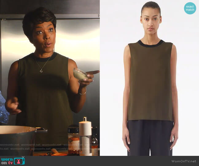 Twisted-Back Tank Top by 3.1 Phillip Lim worn by Athena Grant (Angela Bassett) on 9-1-1
