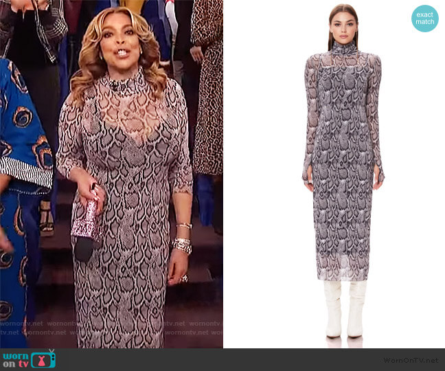 Shailene Mesh Dress by AFRM worn by Wendy Williams  on The Wendy Williams Show