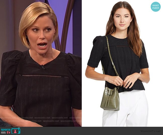 Wallis Top by A.L.C. worn by Julie Bowen on The Wendy Williams Show
