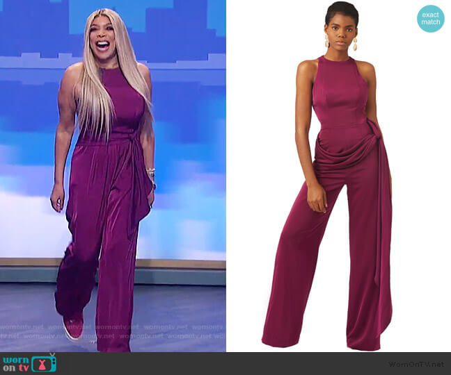 Reed Jumpsuit by Andrea Iyamah worn by Wendy Williams  on The Wendy Williams Show