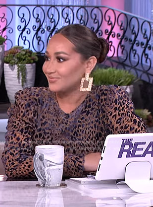 Adrienne's burnout leopard dress on The Real
