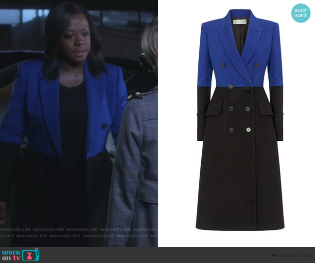 Wool-Cashmere Overcoat by Alexander McQueen worn by Annalise Keating (Viola Davis) on HTGAWM