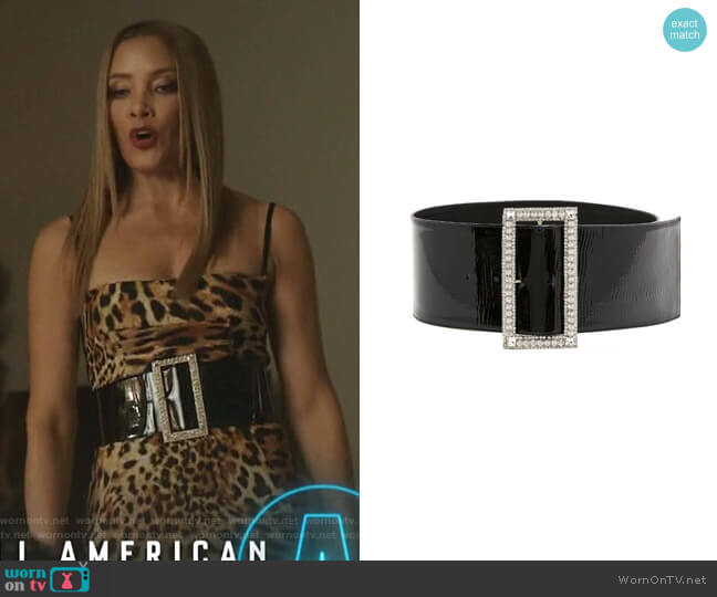 Wide Embellished Patent Leather Belt by Alexandre Vauthier worn by Dominique Deveraux (Michael Michele) on Dynasty
