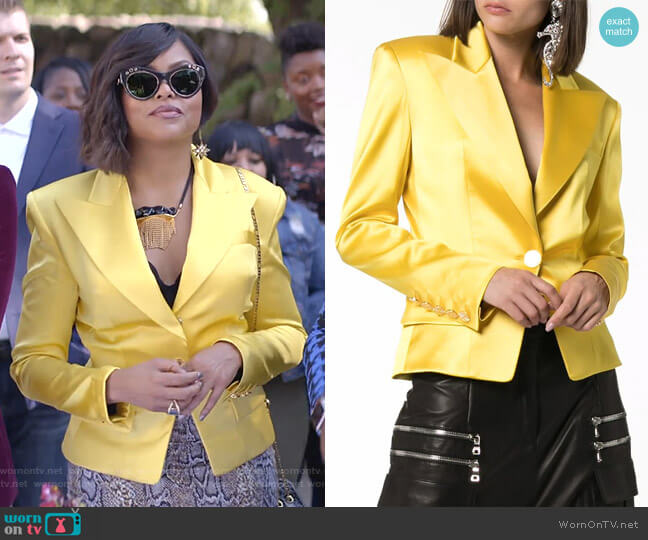 Single Breasted Blazer by Alexandre Vauthier worn by Cookie Lyon (Taraji P. Henson) on Empire