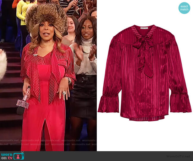 Danika Blouse by Alice + Olivia worn by Wendy Williams  on The Wendy Williams Show