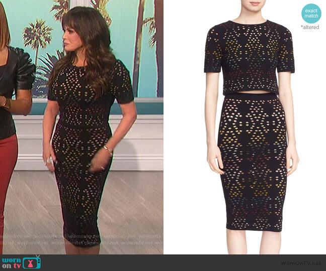Ines Top and Ani Skirt by Alice + Olivia worn by Marie Osmond  on The Talk
