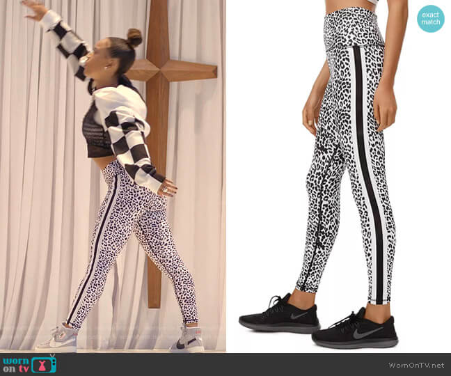 Leopard-Print Active Leggings by All Fenix worn by Tiana Brown (Serayah McNeill) on Empire