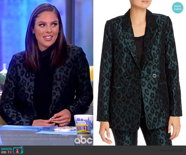 Madeleine Leopard Blazer by Anine Bing worn by Abby Huntsman  on The View