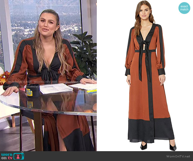 Color Block Long Dress by Bcbgmaxazria worn by Carissa Loethen Culiner  on E! News