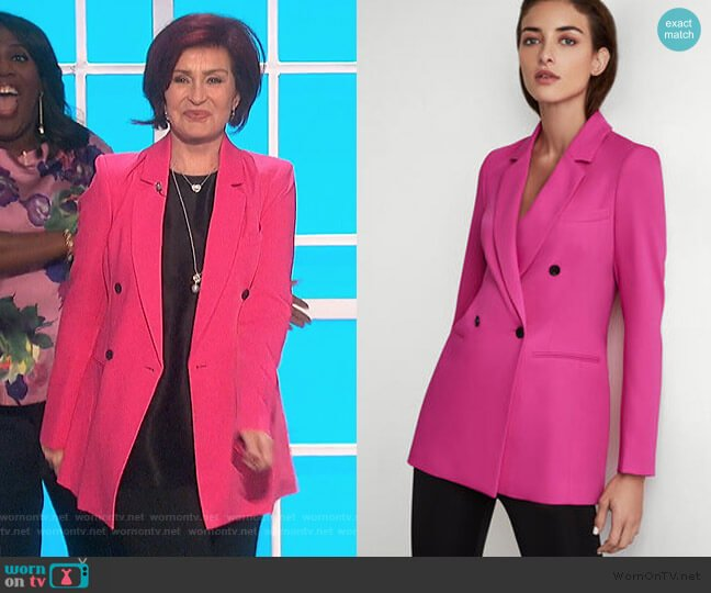 Long Blazer by BCBGMAXAZRIA worn by Sharon Osbourne  on The Talk