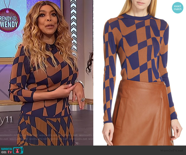 Fantina Geo Sweater by BOSS worn by Wendy Williams  on The Wendy Williams Show