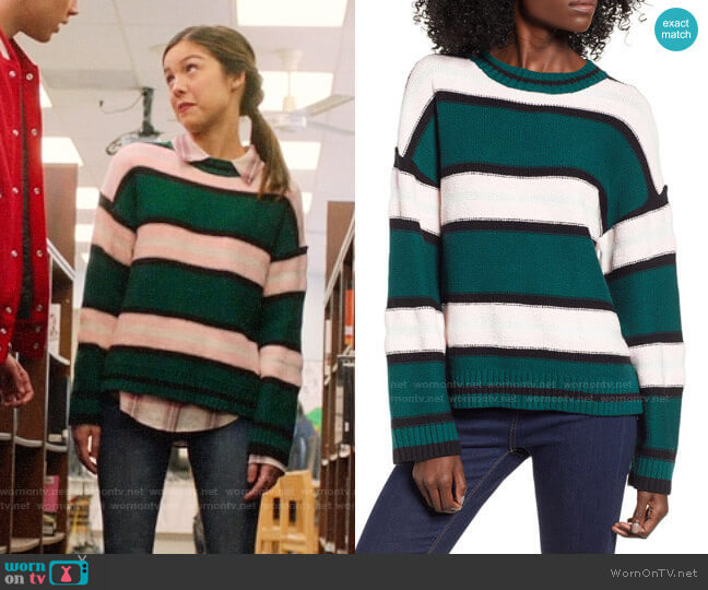 BP Everyday Stripe Sweater worn by Nini (Olivia Rodrigo) on High School Musical The Musical The Series