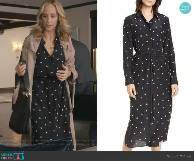 Belted Silk Shirtdress by Theory worn by Teddy Altman (Kim Raver) on Greys Anatomy