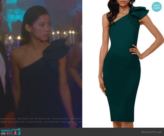 WornOnTV: George's Green One-shoulder Dress On Nancy Drew
