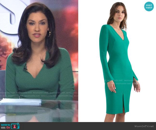 Black Halo Sambora Dress worn by Alison Namazi (Janina Gavankar) on The Morning Show