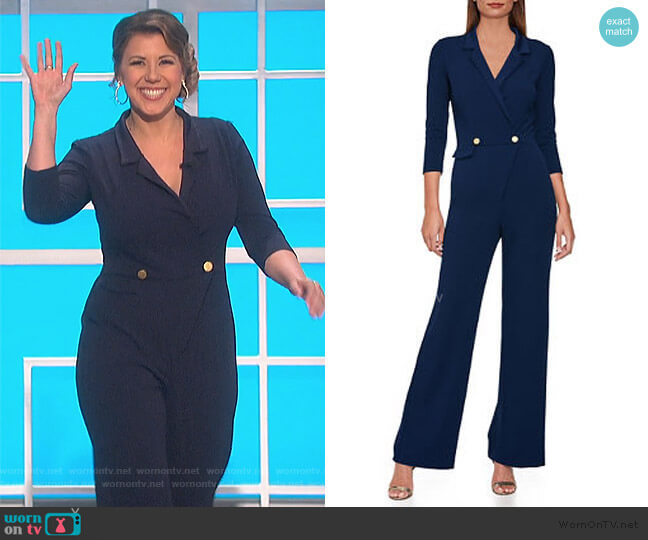 Tuxedo Jumpsuit by Boston Proper worn by Jodie Sweetin on The Talk