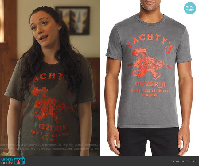 Lil Yachty Pizzeria Graphic Tee by Bravado worn by Jules Wiley (Kat Dennings) on Dollface