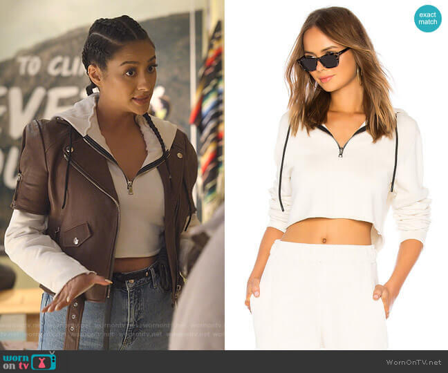 Brooklyn Hoodie by Cotton Citizen worn by Stella Cole (Shay Mitchell) on Dollface