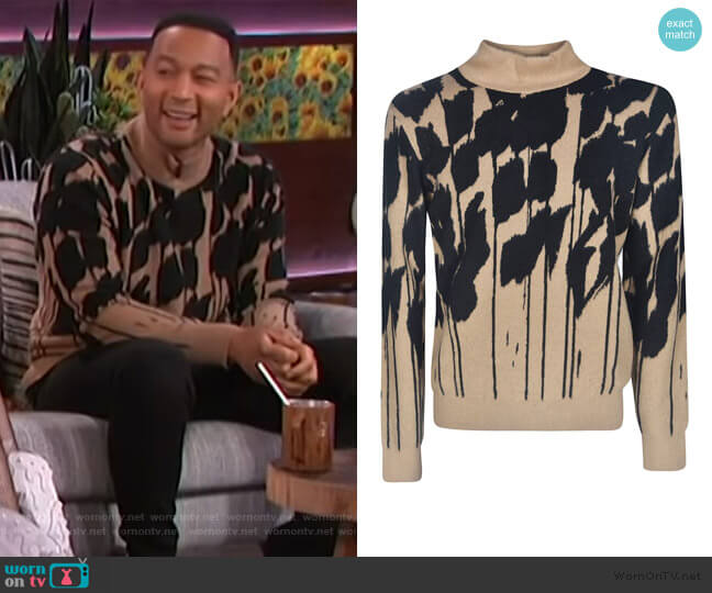 Turtleneck Sweater by Christian Dior worn by John Legend on The Kelly Clarkson Show