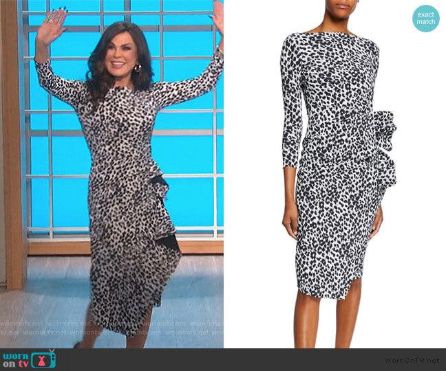 Zelma Side-Shirred Printed Dress by Chiara Boni La Petite Robe worn by Marie Osmond  on The Talk