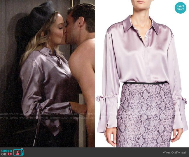 Cinq a Sept Elisia Top worn by Abby Newman (Melissa Ordway) on The Young & the Restless