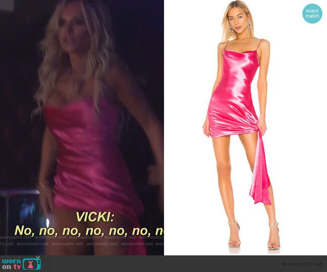 Satin Ryder Dress by Cinq a Sept worn by Tamra Judge  on The Real Housewives of Orange County