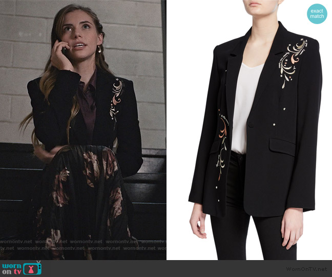 Estelle Embroidered Blazer by Cinq a Sept worn by Stephanie 'Stevie' McCord (Wallis Currie-Wood) on Madam Secretary