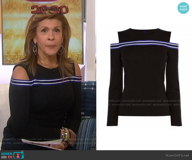 Cold Shoulder Jersey Top by Karen Millen worn by Hoda Kotb  on Today