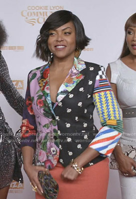 Cookie's mixed print blazer on Empire
