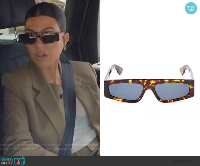 Power Slim Square Sunglasses by Dior worn by Kourtney Kardashian  on Keeping Up with the Kardashians