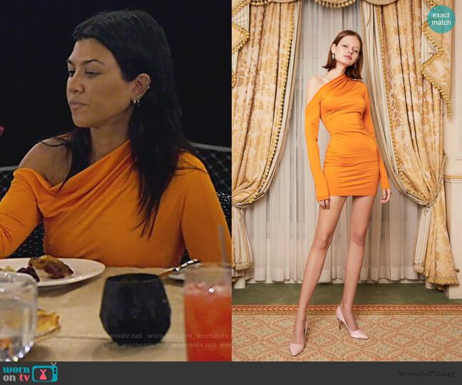 Warp Dress in Orange by Daisy worn by Kourtney Kardashian  on Keeping Up with the Kardashians