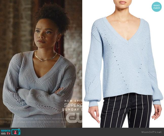 Ribbed V-Neck Sweater by Derek Lam 10 Crosby worn by Jade Payton on Dynasty