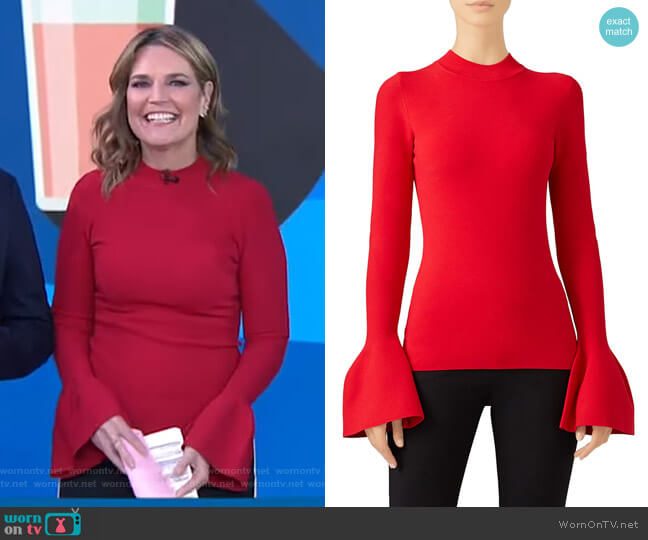 Bell Sleeve Sweater by Diane von Furstenberg  worn by Savannah Guthrie  on Today