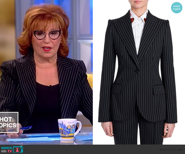 Pinstripe Wool Jacket by Dolce and Gabbana worn by Joy Behar  on The View