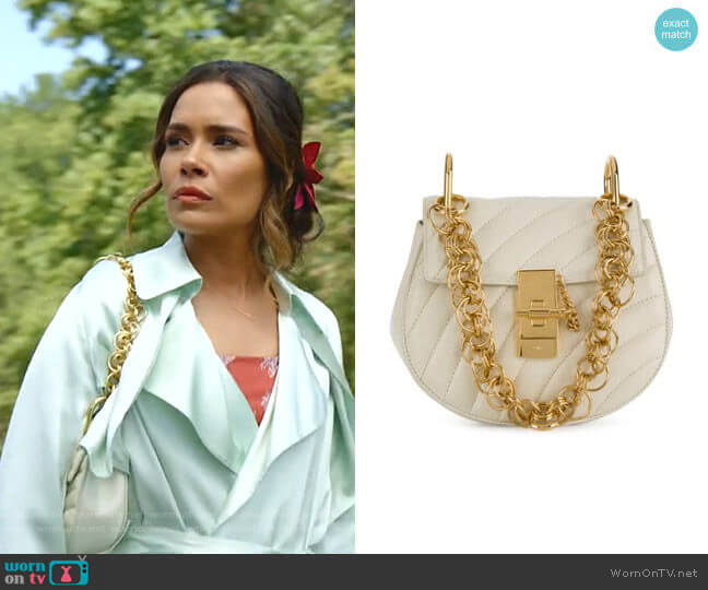 Drew Bijou Mini Shoulder Bag by Chloe worn by Cristal Jennings (Daniella Alonso) on Dynasty