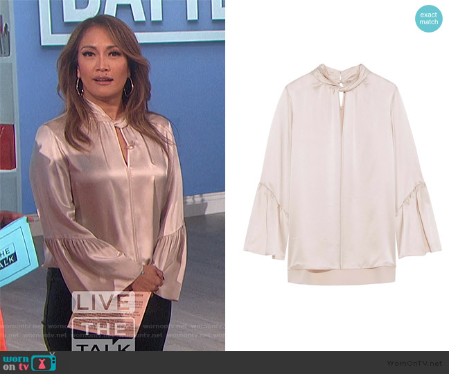 Laraib Blouse by Elie Tahari worn by Carrie Inaba  on The Talk