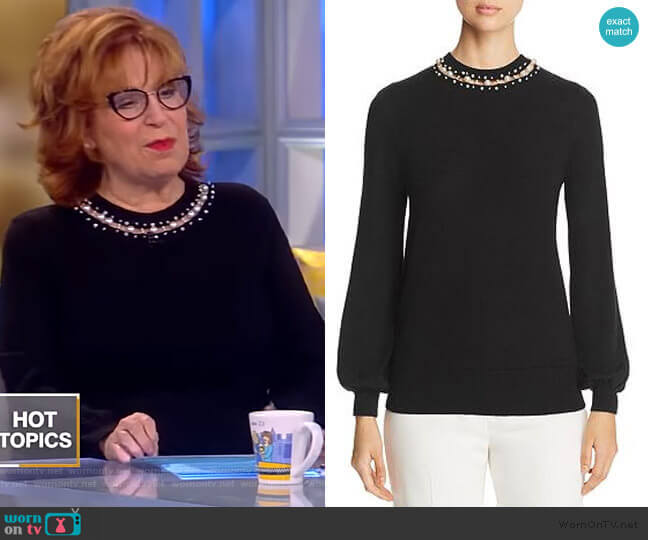 Sharar Faux-Pearl Neck Sweater by Elie Tahari worn by Joy Behar  on The View
