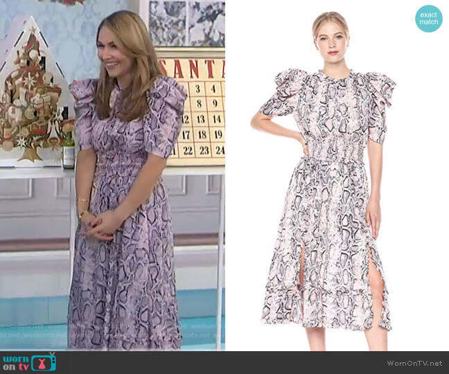Mia Midi Dress by Elliatt worn by Lori Bergamotto on Today Show
