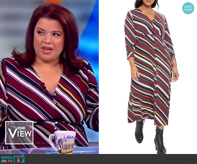 Long Sleeve Maxi Dress by Eloquii worn by Ana Navarro  on The View