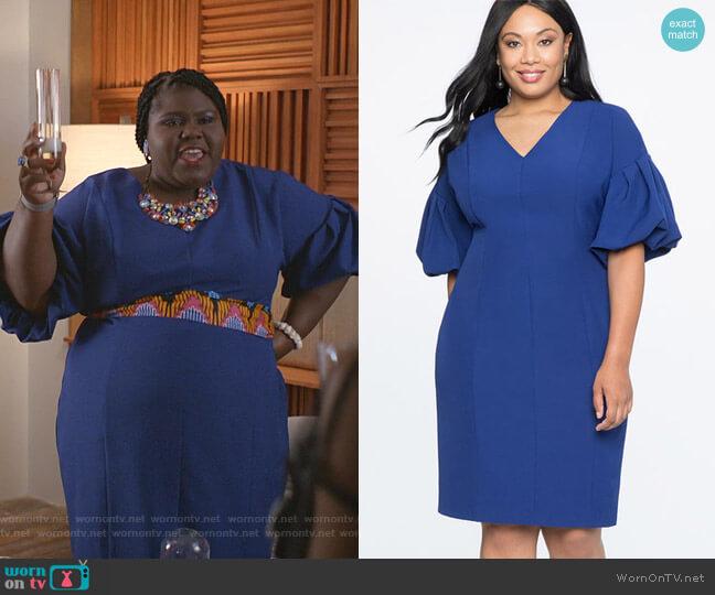 Puff Sleeve V-Neck Dress by Eloquii worn by Becky (Gabourey Sidibe) on Empire