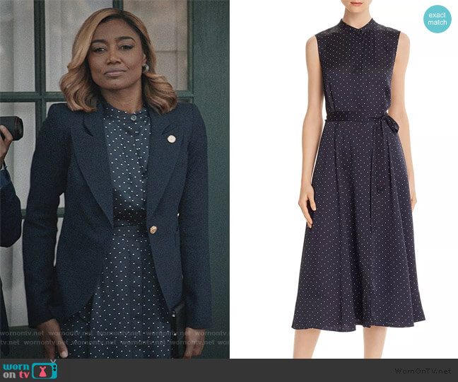 Clevete Midi Dress by Equipment worn by Daisy Grant (Patina Miller) on Madam Secretary