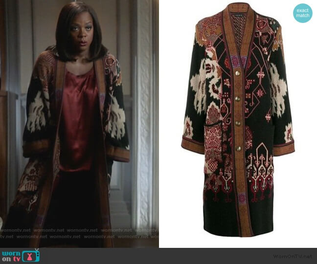 Embroidered Cardigan by Etro worn by Annalise Keating (Viola Davis) on HTGAWM