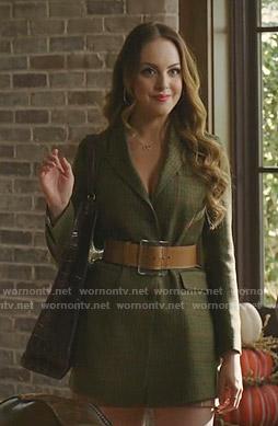 Fallon's green plaid blazer on Dynasty