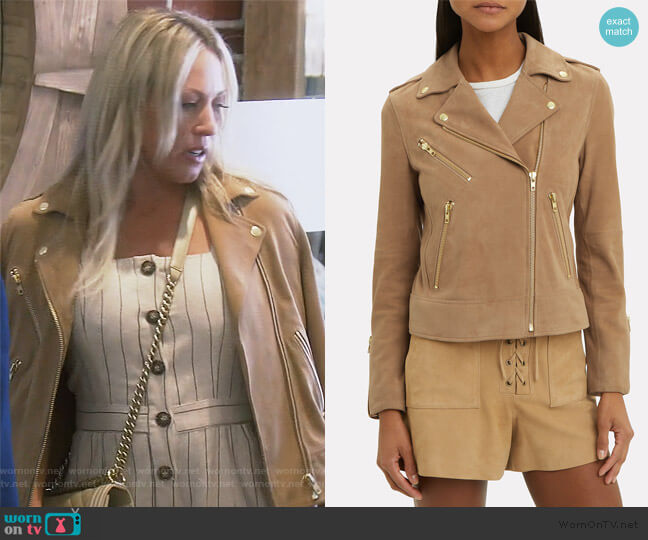Frances Moto Jacket by Fifth & Mode worn by Braunwyn Windham-Burke  on The Real Housewives of Orange County