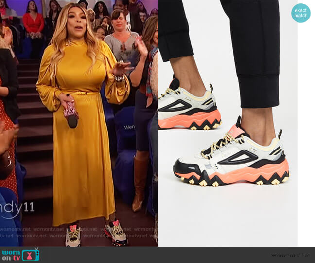 Oakmont TR Sneakers by Fila worn by Wendy Williams  on The Wendy Williams Show