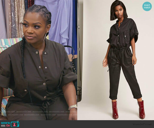 Snap Button Jumpsuit by Forever 21 worn by Kandi Burruss  on The Real Housewives of Atlanta