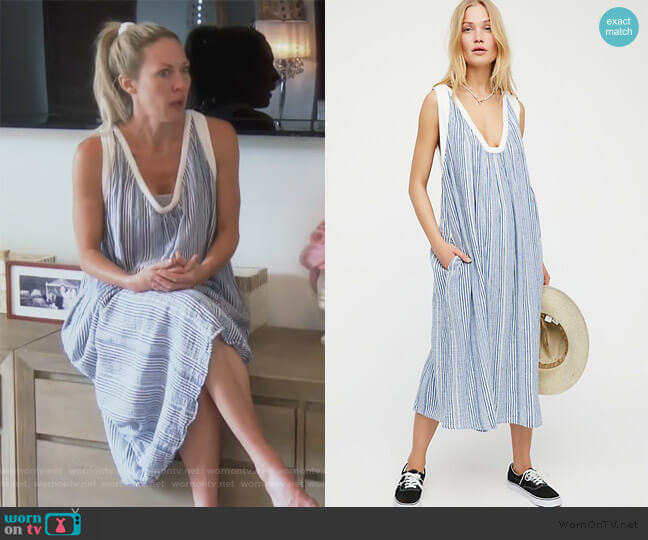 Beckett Midi Dress by Free People worn by Braunwyn Windham-Burke  on The Real Housewives of Orange County